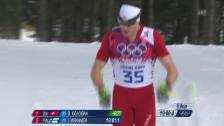 Video «Langlauf: Zusammenfassung 15 km klassisch (sotschi direkt, 14.2.2014)» abspielen