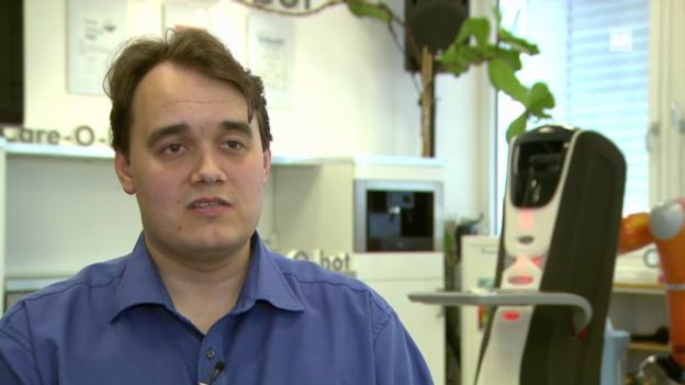 Video «Bald Roboter in jedem Heim? IPA-Forscher Jacobs zu Aussichten.» abspielen
