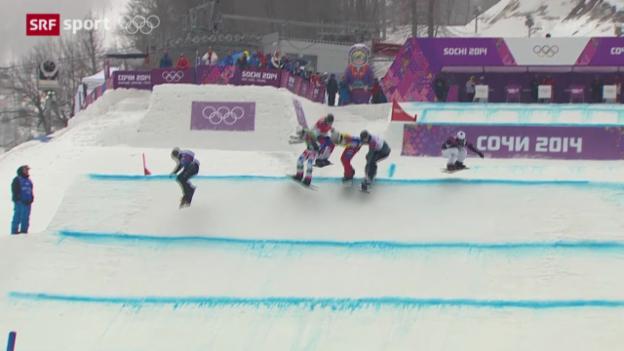 Video «Snowboard: Boardercross Männer» abspielen