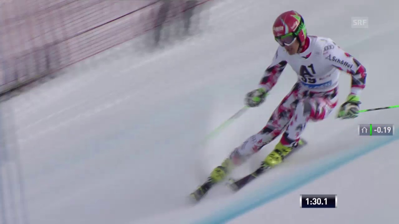 Ski: RS M Sölden, 2. Lauf von Roland Leitinger