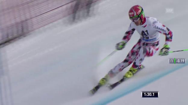 Video «Ski: RS M Sölden, 2. Lauf von Roland Leitinger» abspielen