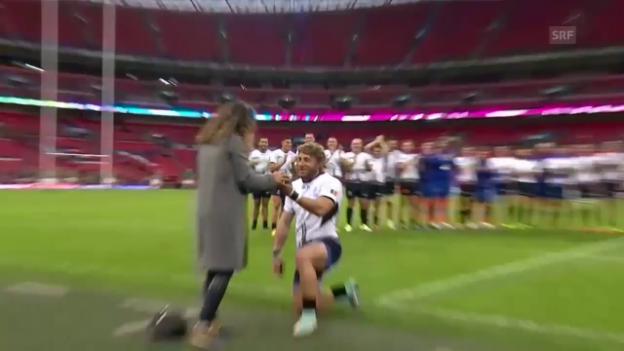 Video «Rugby: WM England, Heiratsantrag Surugiu» abspielen