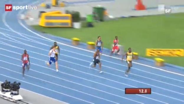 Video «Daegu 2011: Lemaitre holt über 200 m Bronze» abspielen