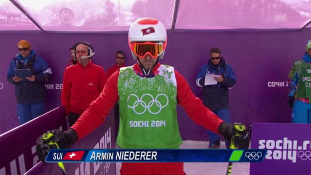 Video «Skicross: Männer, Viertelfinal mit Armin Niederer (sotschi direkt, 20.2.2014)» abspielen
