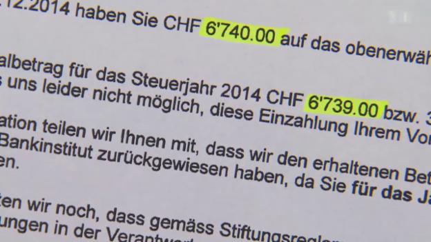 Video «Bank schädigt Kunden: 1 Franken kostet Steuerzahler 1000 Franken» abspielen
