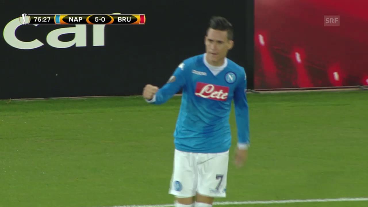 Fussball: Europa League, Napoli – Brügge
