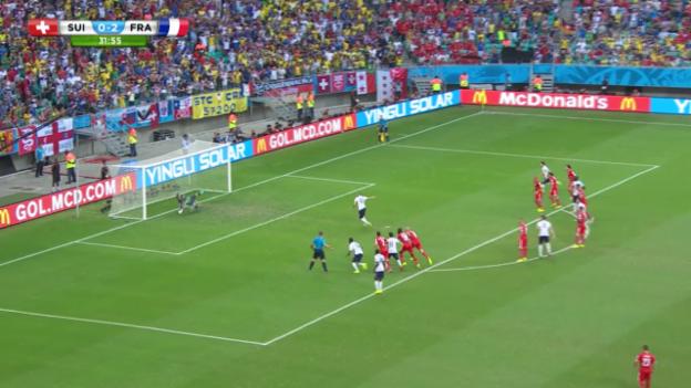 Video «FIFA WM 2014: Schweiz - Frankreich: Benaglio pariert den Elfmeter» abspielen