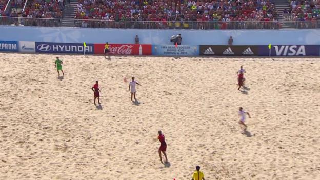 Video «Beachsoccer: Portugal - Schweiz, 5:2 Portugal» abspielen