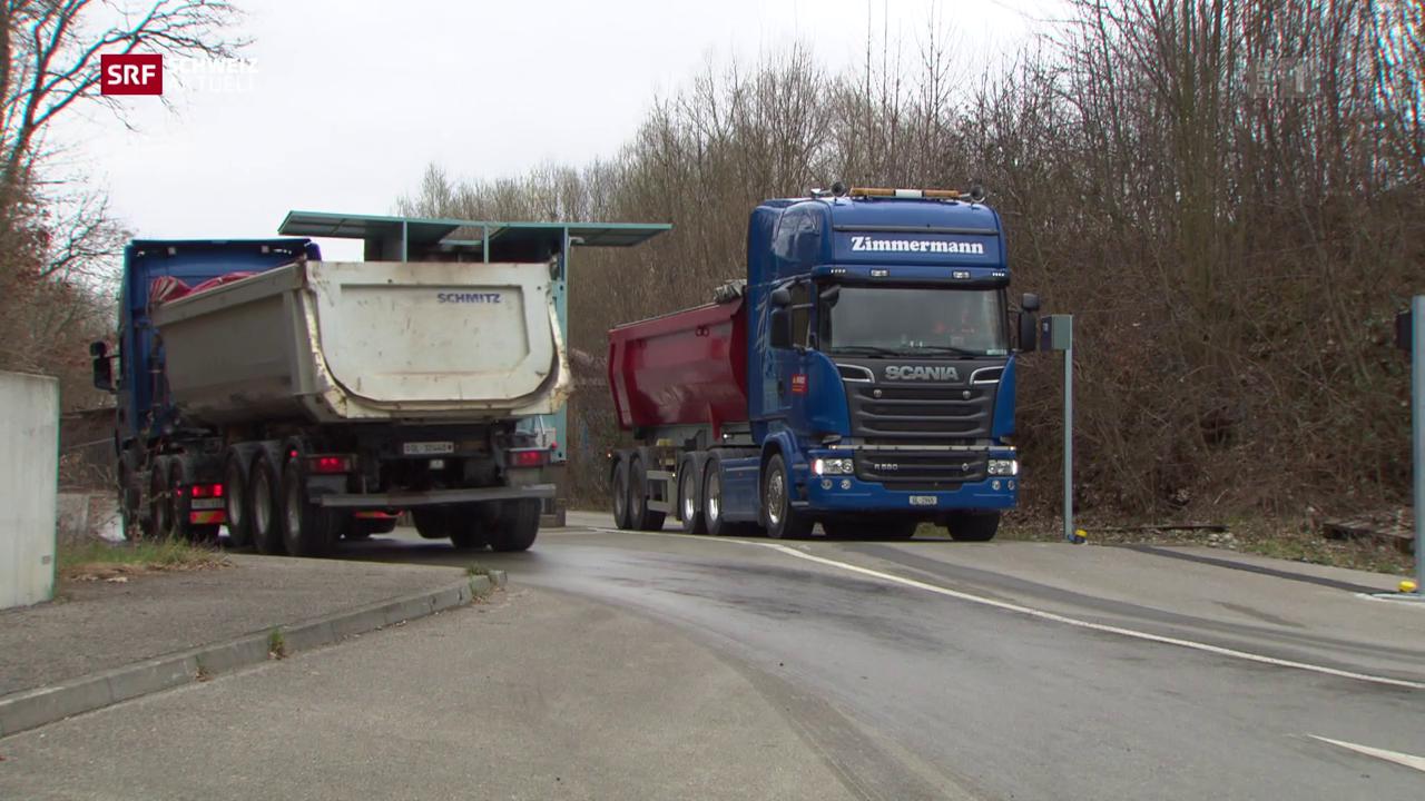 200 Lastwagenfahrten pro Tag