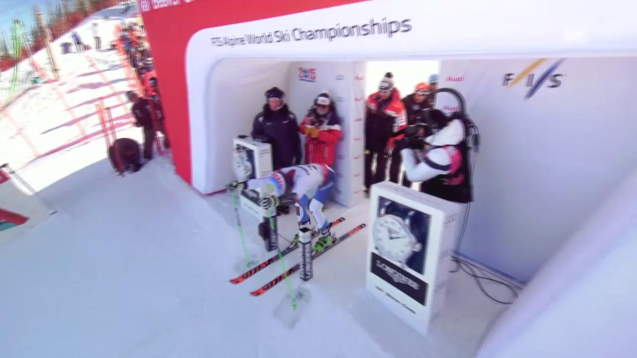 Ski: WM Vail/Beaver Creek 2015, Riesenslalom Männer, der 1. Lauf von Justin Murisier