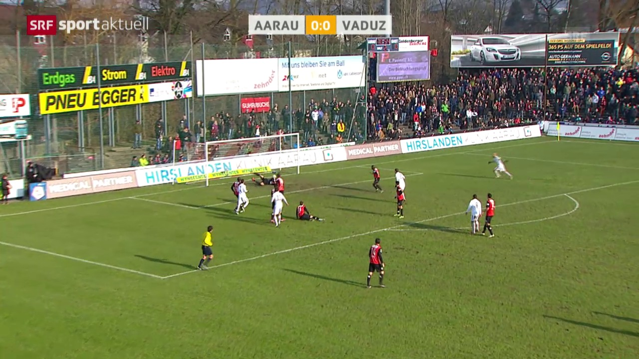 Fussball: SL, Aarau-Vaduz