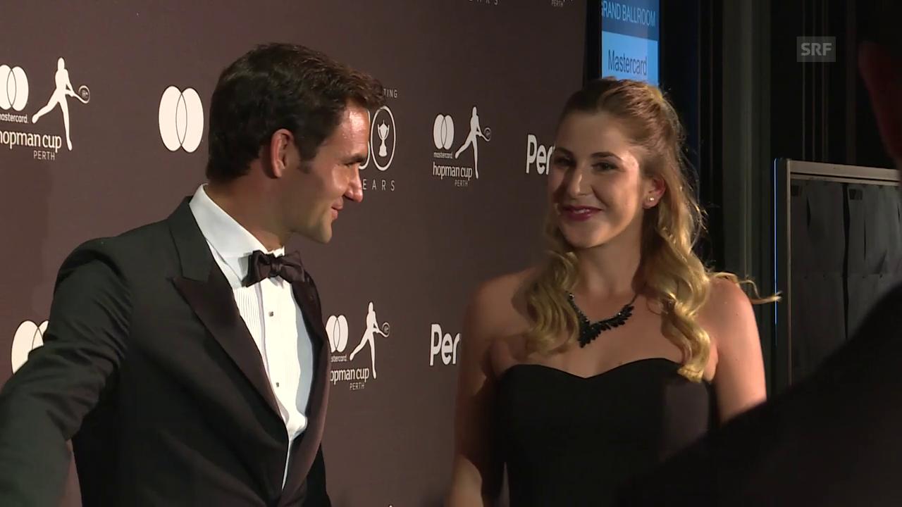 Bencic und Federer brillieren abseits des Courts