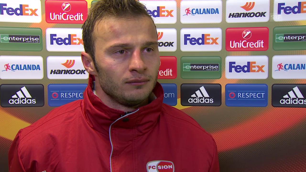 Fussball: Europa League, 6. Spieltag, Sion - Liverpool, Interview mit Elsad Zverotic