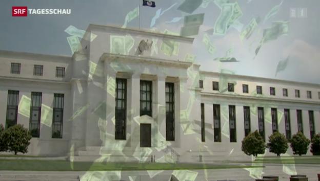 Video «US-Notenbank stoppt Konjunkturstützungs-Programm» abspielen