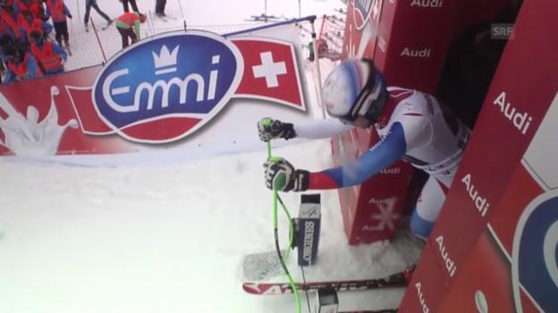 Video «Ski alpin: Abfahrt Garmisch, Fahrt Carlo Janka» abspielen