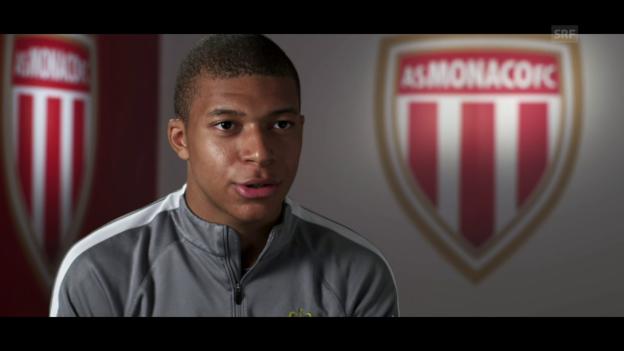 Video «Monacos Kylian Mbappé im Porträt» abspielen
