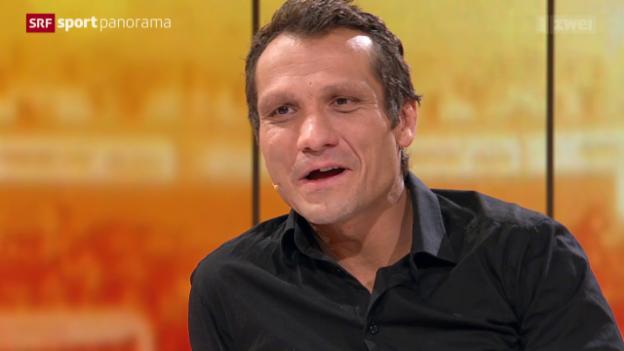 Video «Eishockey: Studiogast Marcel Jenni - Gespräch Teil 2» abspielen