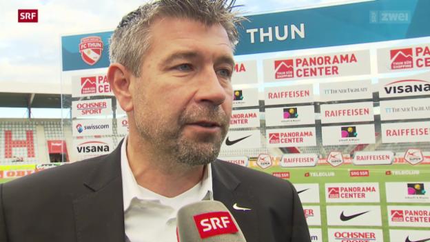 Video «Fussball: Reaktionen zu Thun - Zürich» abspielen