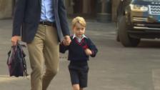 Link öffnet eine Lightbox. Video Prinz George geht zur Schule abspielen