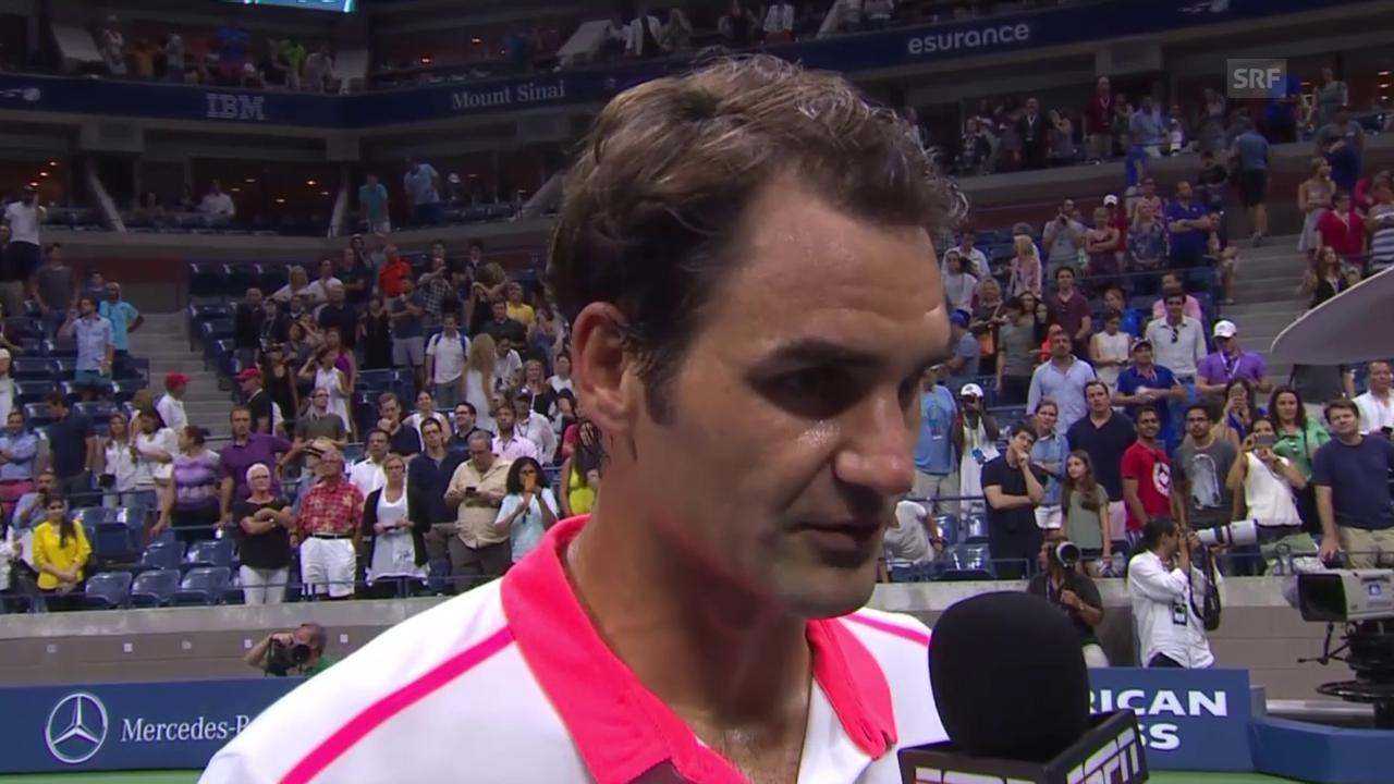 Tennis: Us Open 2015, Achtelfinal, Federer - Isner, Platzinterview