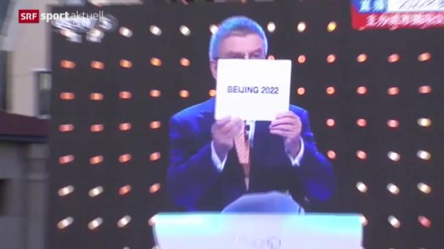Video «Olympia: Peking erhält Spiele 2022» abspielen