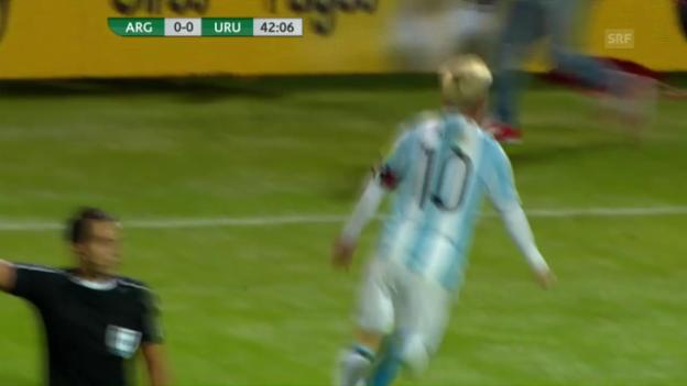 Video «Rückkehrer Messi schiesst die «Gauchos» zum Sieg (EVS)» abspielen