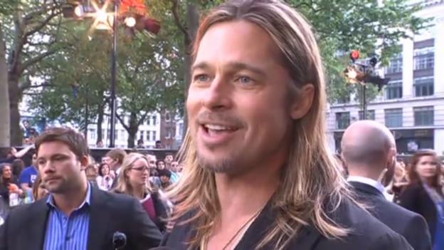 Video «Brad Pitt spricht über den «World War Z»-Film» abspielen