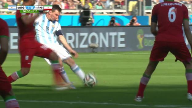Video «Lionel Messis 1:0 gegen den Iran» abspielen