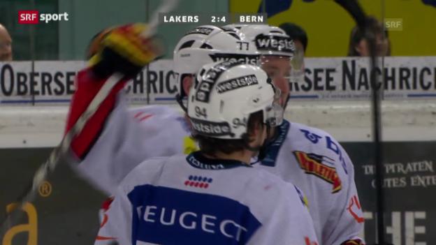 Video «Eishockey: Lakers - Bern» abspielen
