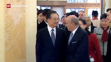 Chinesischer Premier besucht die Schweiz