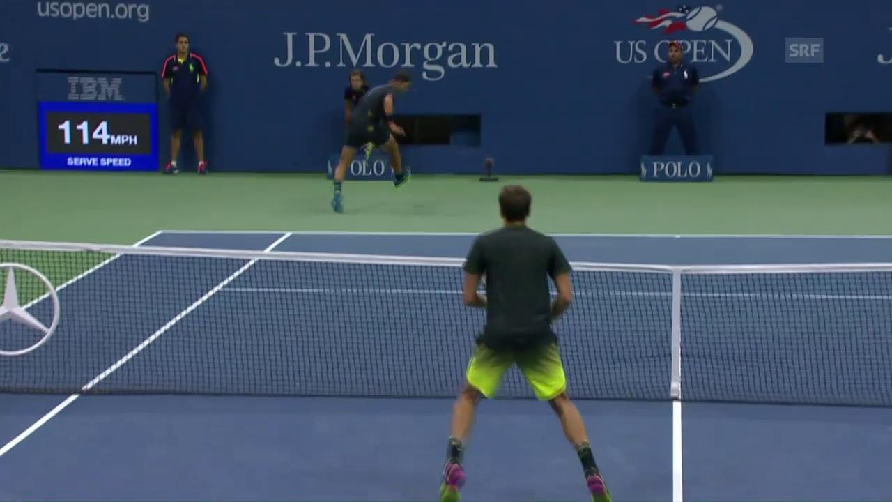 Nadal: Tweener, Schläger verloren, Punkt gewonnen