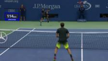 Video «Nadal: Tweener, Schläger verloren, Punkt gewonnen» abspielen