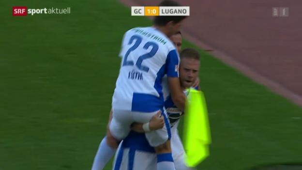 Video «Fussball: SL, GC - Lugano» abspielen