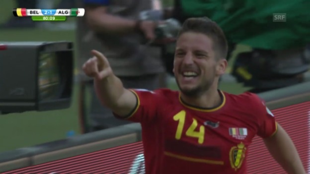 Video «FIFA WM 2014: Gruppe H, Belgien - Algerien, Das Siegtor von Mertens» abspielen