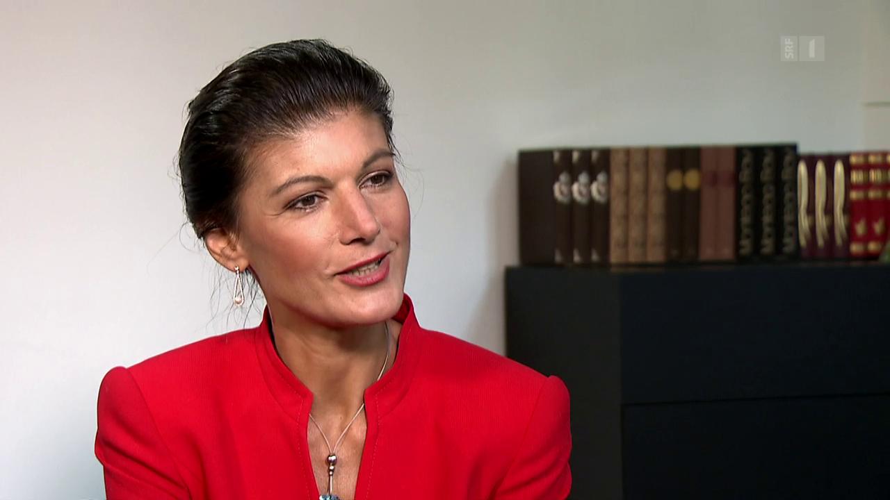 Theke: Sahra Wagenknecht