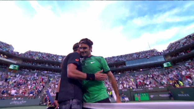 Video «Federer behält gegen Johnson im Tiebreak die Nerven» abspielen