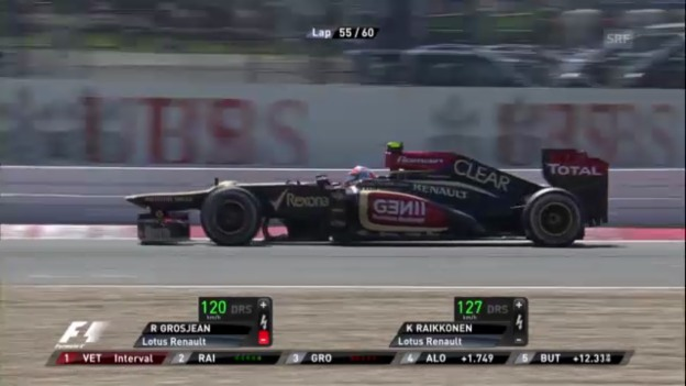 Video «Grosjean gegen Vettel und Räikkönen» abspielen