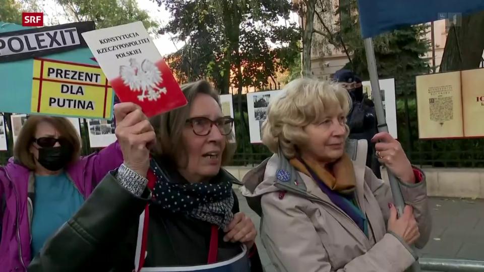 Streit zwischen Polen und EU führt zu Protesten