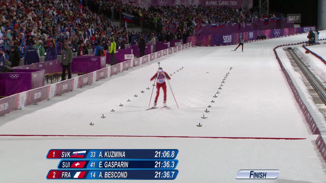 Biathlon: Sprint 7,5km Frauen, Elisa Gasparin (sotschi direkt, 9.2.2014)