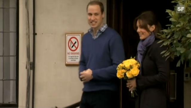 William und Catherine verlassen gemeinsam das Spital (unkomm. Video)