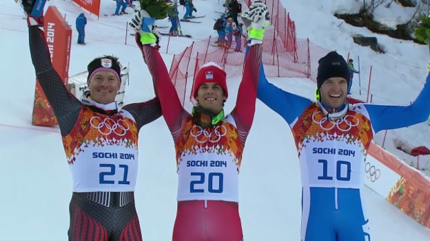 Video «Ski: Super-Kombination, Flower-Ceremony (sotschi direkt, 14.02.2014)» abspielen