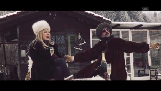 Video «Chic im Schnee: SRF» abspielen