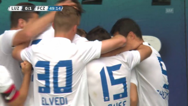 Video «Fussball: 35. Super-League-Runde 2014/15, 0:1 Armando Sadiku» abspielen