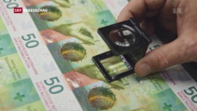 Video «Bei der neuen 50er-Note hat sich nur die Farbe nicht geändert» abspielen