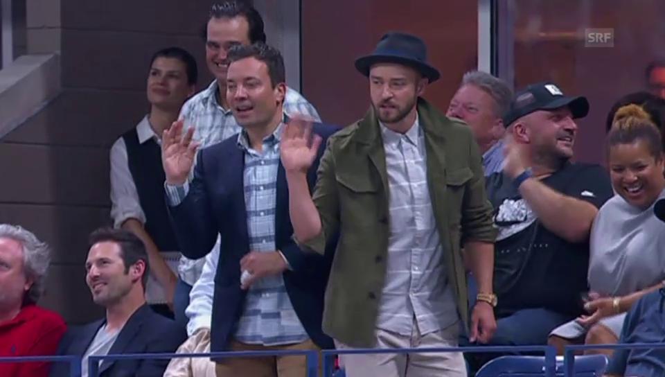 Timberlake und Fallon tanzen vor Federer