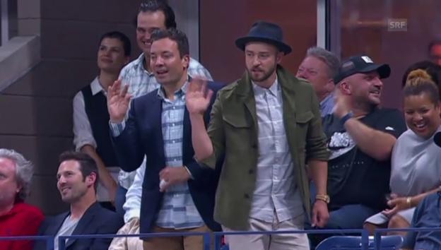 Video «Timberlake und Fallon tanzen vor Federer» abspielen