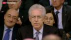 Video «Monti erklärt seinen Rücktritt» abspielen