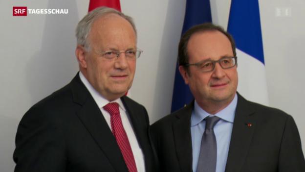 Video «Hollande bietet Schweiz Unterstützung an» abspielen