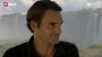Video «Roger Federer von Iguazu-Fällen begeistert» abspielen