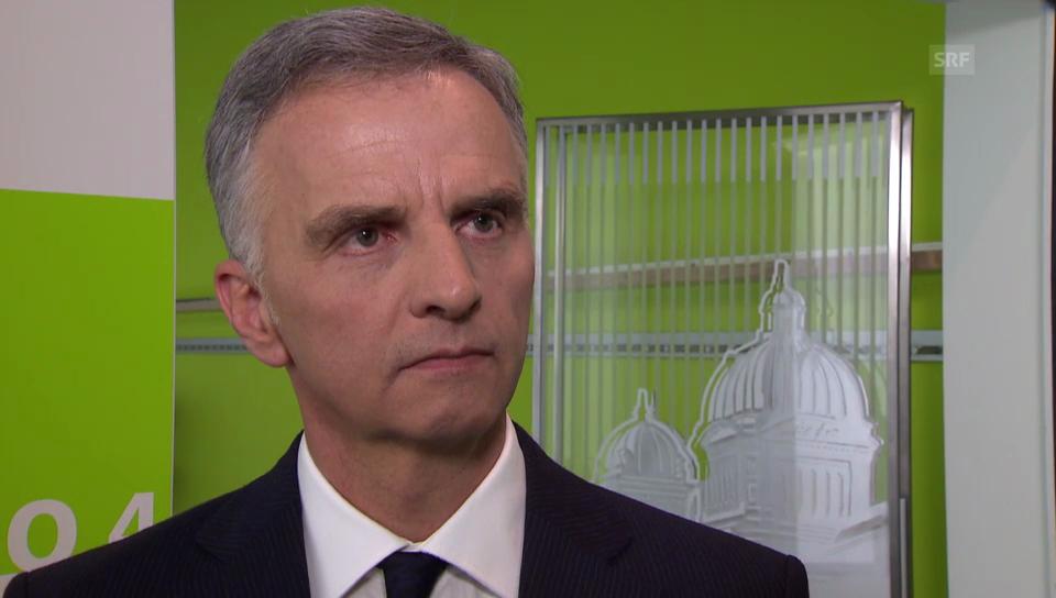 Bundespräsident Burkhalter zum Konflikt in der Ukraine.
